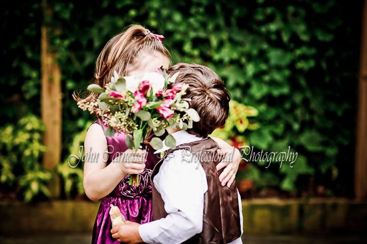 Syracuse Wedding. Cute - Kids Kissiong