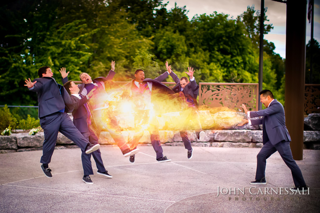 Hadouken!! Fun Wedding Photo!